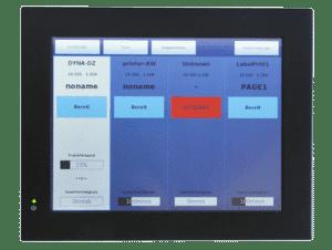 etikettendruck touch panel 10 zoll