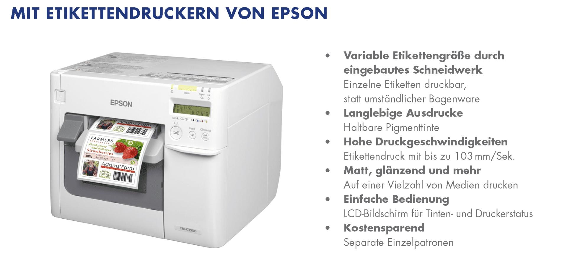 Epson Etikettendrucker C3500 1