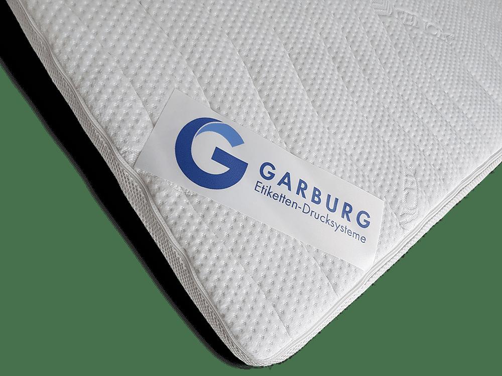 Garburg Produkt Matratzenetikettierung 1